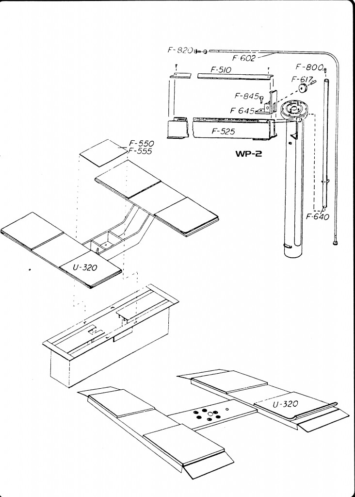 In Ground Lift Parts : In ground frame engaging parts diagram western lift